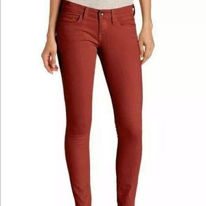 Luck brand canyon red charlie ankle jeans w/zipper